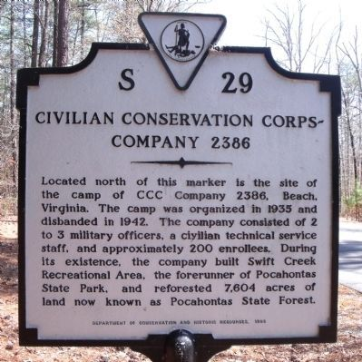 CCC Company 2386 Marker image. Click for full size.