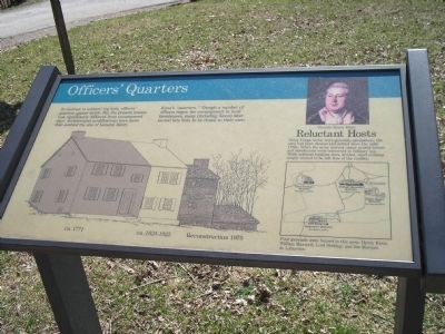 Officer's Quarters Marker image. Click for full size.