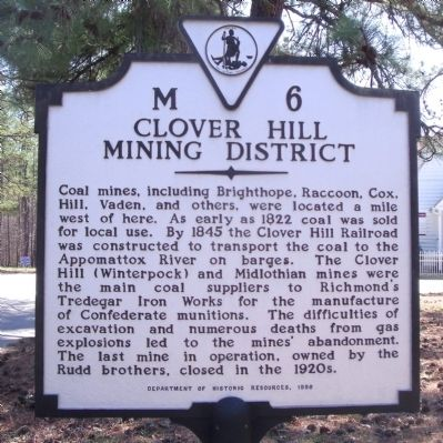 Clover Hill Mining District Marker image. Click for full size.