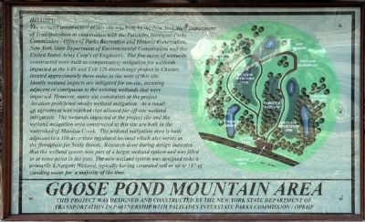 Goose Pond Mountain Area Marker image. Click for full size.