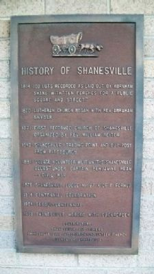 History of Shanesville Marker Photo, Click for full size
