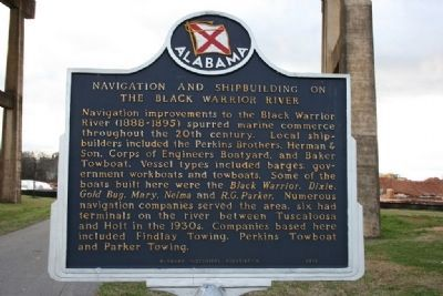 Navigation and Shipbuilding On The Black Warrior River Marker image. Click for full size.