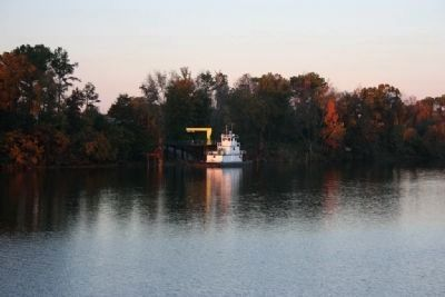 A Towboat docked on the Black Warrior River image. Click for full size.