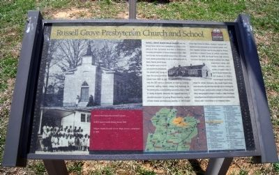 Russell Grove Presbyterian Church and School CRIEHT Marker image. Click for full size.