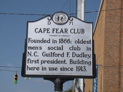 Cape Fear Club Marker image. Click for full size.