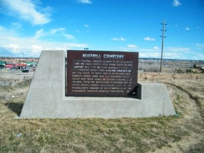 Boothill Cemetery Marker with concrete frame image. Click for full size.
