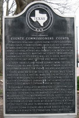 Texas Confederate County Commissioners Court Marker image. Click for full size.