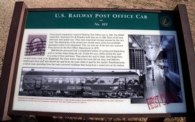 U.S. Railway Post Office Car Marker image. Click for full size.