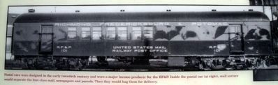 U.S. Railway Post Office Car image. Click for full size.