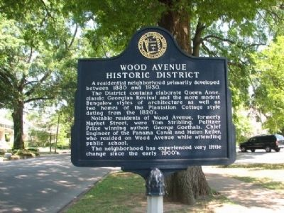 Wood Avenue Historic District Marker image. Click for full size.