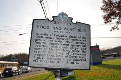 Another Picture of Hood and Schofield Marker Photo, Click for full size