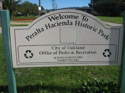 Peralta Hacienda Park Sign at Entrance image. Click for full size.