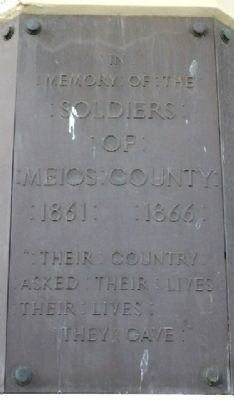 Meigs County Civil War Memorial Marker image. Click for full size.