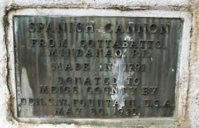 Spanish Cannon Marker image. Click for full size.