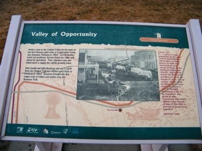 Valley of Opportunity Marker Photo, Click for full size