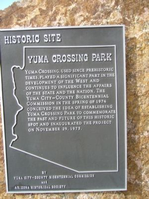 Yuma Crossing Park Marker image. Click for full size.