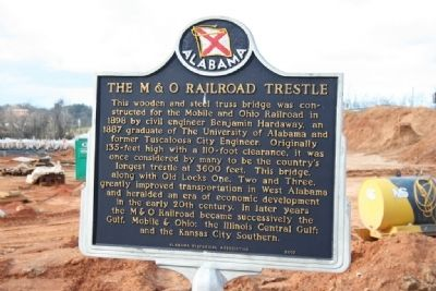 The M & O Railroad Trestle Marker Photo, Click for full size