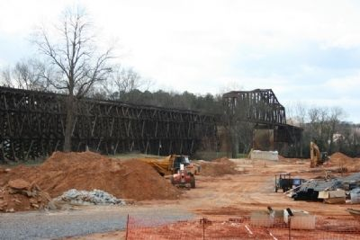 The M & O Railroad Trestle East View Photo, Click for full size