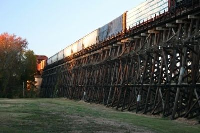 The M & O Railroad Trestle West View Photo, Click for full size