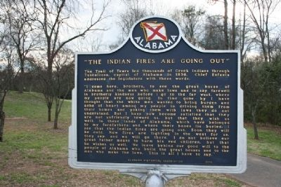 """The Indian Fires Are Going Out"" Marker image. Click for full size."