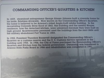 Commanding Officer's Quarters & Kitchen Marker Photo, Click for full size