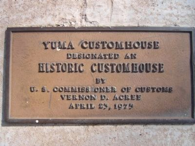Customshouse Marker Photo, Click for full size
