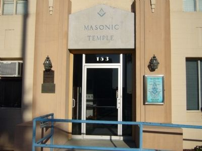 Masonic Temple – Lodge #17 Marker image. Click for full size.