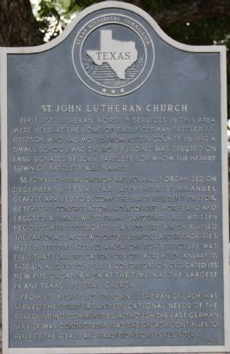 St. John Lutheran Church Marker image. Click for full size.