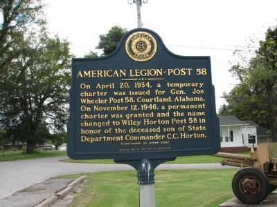 American Legion - Post 58 Marker - Side A image. Click for full size.