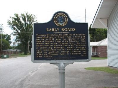 Early Roads Marker - Side A image. Click for full size.