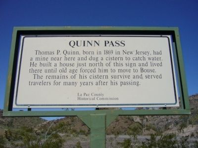 Quinn Pass Marker image. Click for full size.