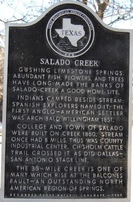 Salado Creek Marker image. Click for full size.