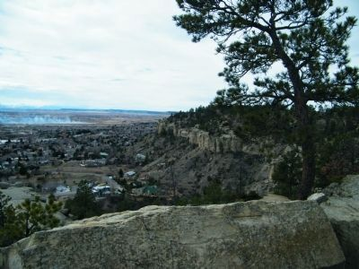 Rimrocks in Zimmerman Park overlooking portion of Billings, MT image. Click for full size.