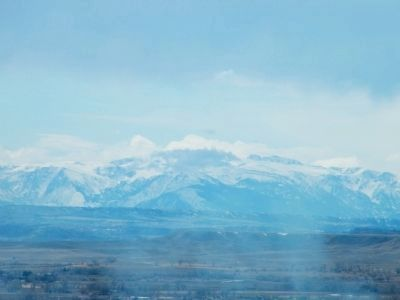 Beartooth Mountains south of Billings, as viewed from Zimmerman Park image. Click for full size.