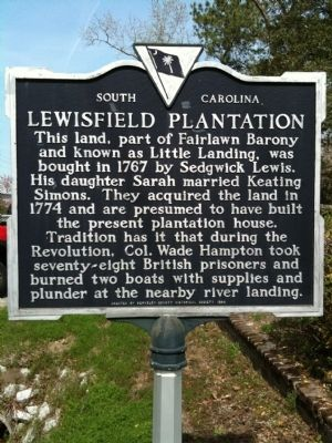 Lewisfield Plantation Marker image. Click for full size.