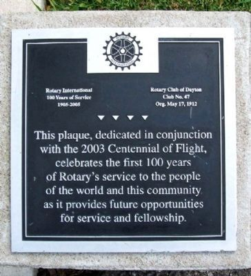 Rotary's First 100 Years of Service Marker image. Click for full size.