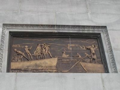 Relief on West Side of Monument image. Click for full size.