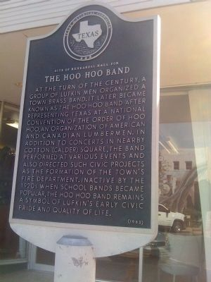 Site of Rehearsal Hall for the The Hoo Hoo Band Marker Photo, Click for full size