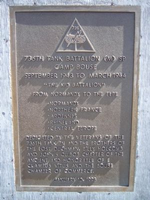 736th Tank Battalion (M) SP Marker image. Click for full size.