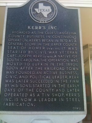 Kerr's Inc. Marker image. Click for full size.
