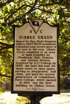 Gibbes Green Marker Photo, Click for full size