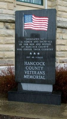 Hancock County Veterans Memorial image. Click for full size.