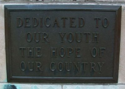 Former High School Dedication to Youth Photo, Click for full size