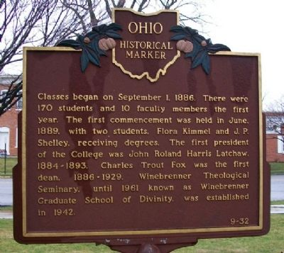 Findlay College Marker (Side B) image. Click for full size.