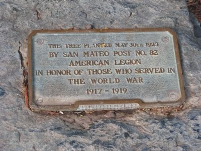 Central Park Veterans Memorial – World War I Marker Photo, Click for full size