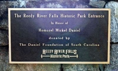 Reedy River Falls Historic Park Entrance image. Click for full size.