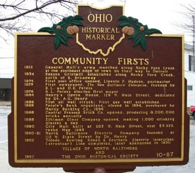 Community Firsts Marker (Side B) image. Click for full size.