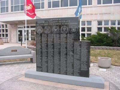 Wood County Veterans Memorial image. Click for full size.