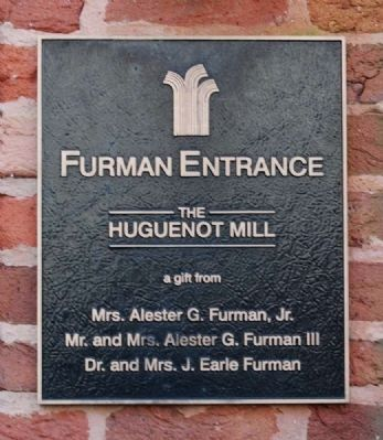 Furman Entrance Marker image. Click for full size.