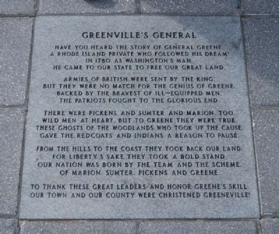 Greenville's General Marker image. Click for full size.